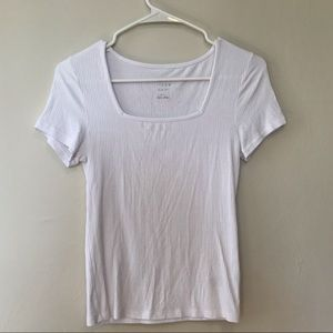 Target A New Day Square Neck White Tee